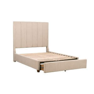 Queen Platform Bed with Storage Footboard/5876NRBE-1*