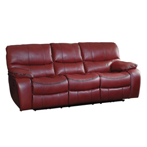Power Double Reclining Sofa/8480RED-3PW
