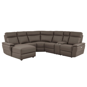 6-Piece Modular Power Reclining Sectional with Left Chaise/8308*6A