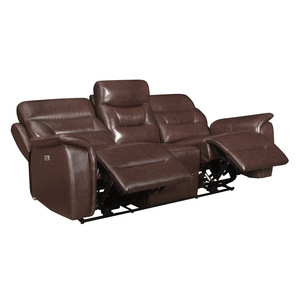 Power Double Reclining Sofa with Power Headrests and USB Ports/9445BR-3PWH