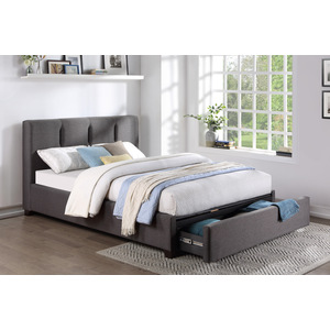 Queen Platform Bed with Storage Footboard/1632GH-1DW*