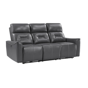 Power Double Reclining Sofa with USB ports/9446GY-3PW
