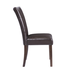 Parson Side Chair Brown PU/2621S