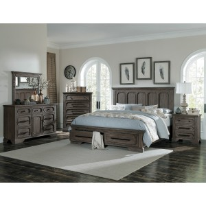 California King Platform Bed with Footboard Storage/5438K-1CK*